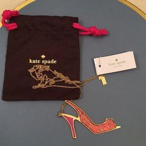 Kate Spade Shoe In Shoe Pendant Necklace